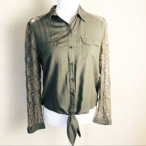 Chico's olive green blouse